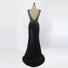 Load image into Gallery viewer, Black With Golden Evening Wear
