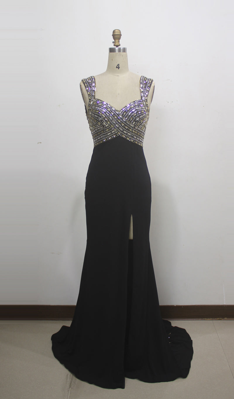 Black With Silver Evening Wear