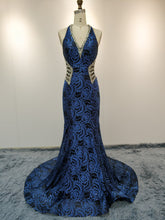 Load image into Gallery viewer, Blue (work) Evening Wear