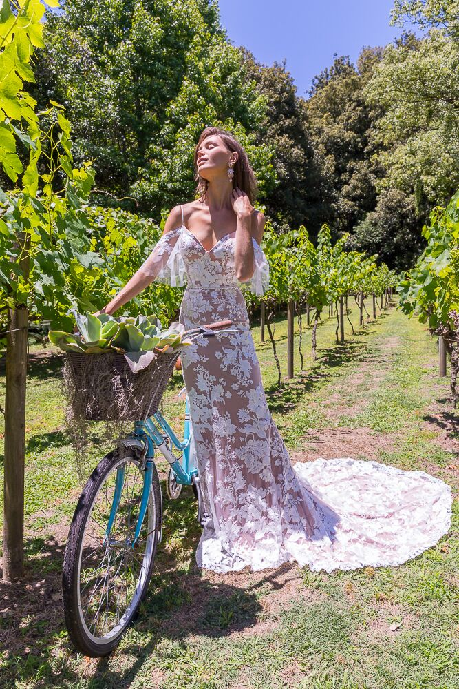 LOVE SOMEBODY-Boho Lace Wedding Dress