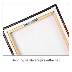 Canvas print Hanging hardware pre-attached