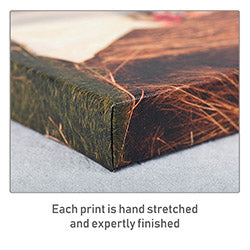 Each canvas print is hand stretched and expertly finished