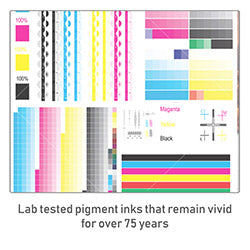 All canvases are printed with inks that last 75 years