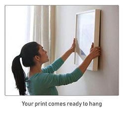 Your print comes ready to hang