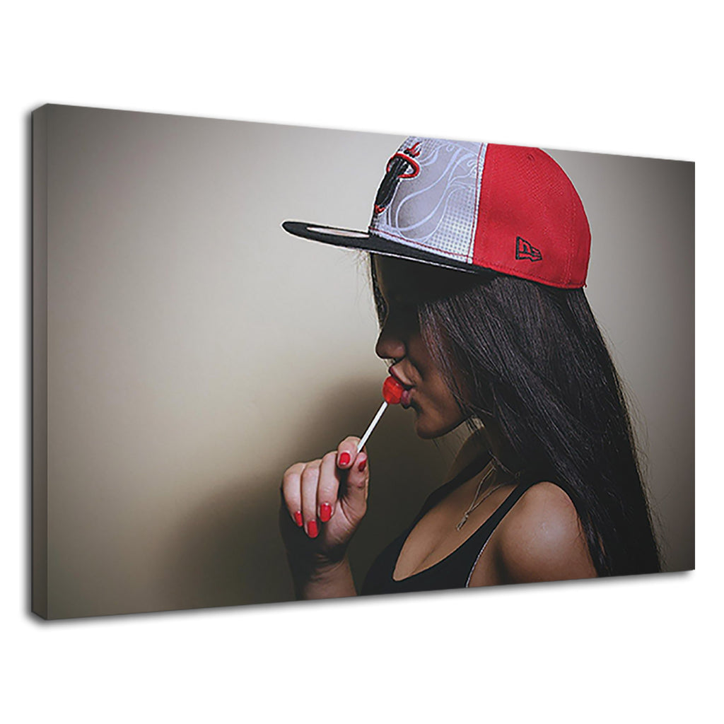 A Hip Hop Girl With Lollipop For Girls Bedroom