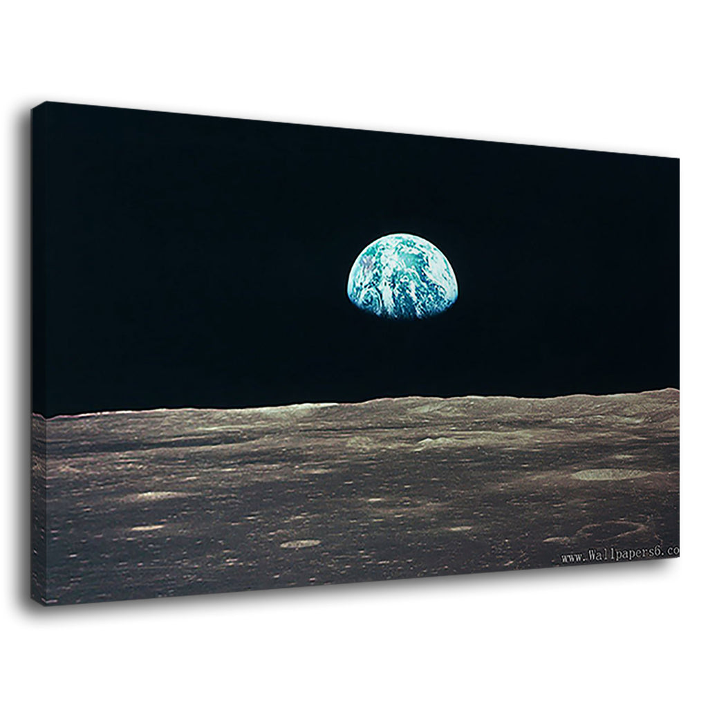 Earths Perspective From The Moon For Drawing Room