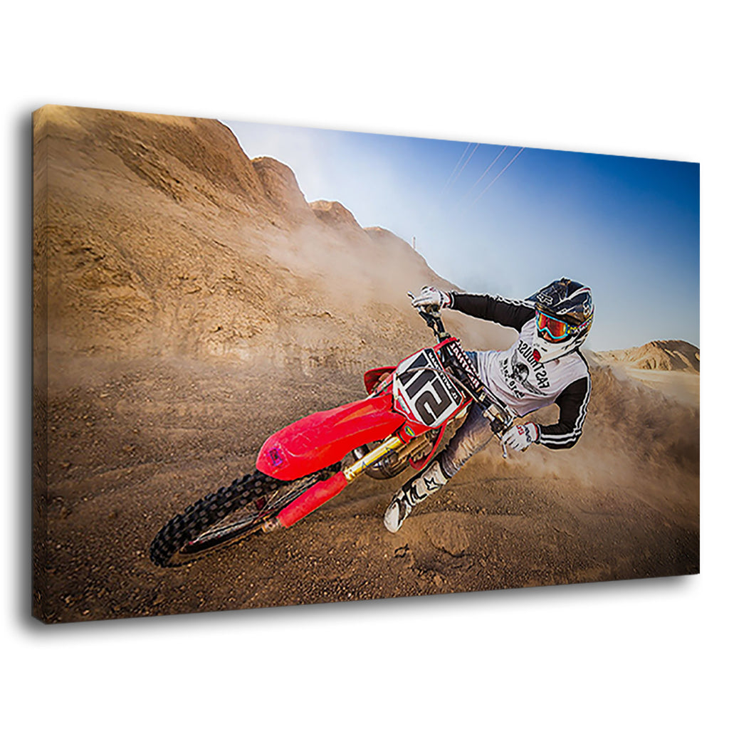 Extreme Dirt Bike Rider For Drawing Room