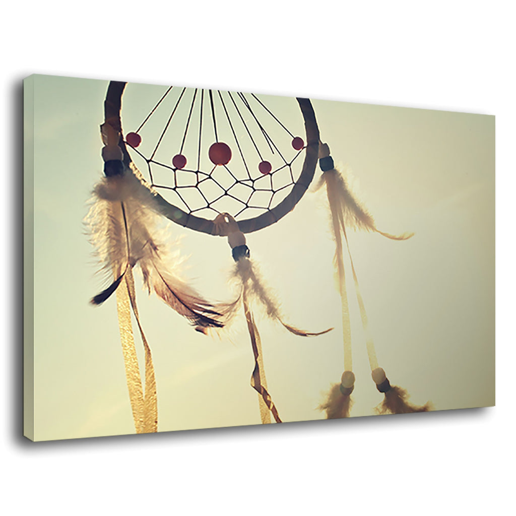 Native American Patterns Dream Catcher Feather