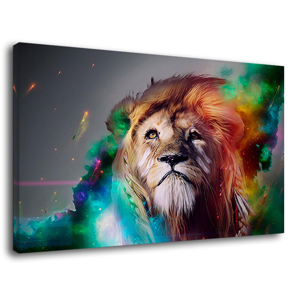 The Lion King And Galaxies Abstract Artwork
