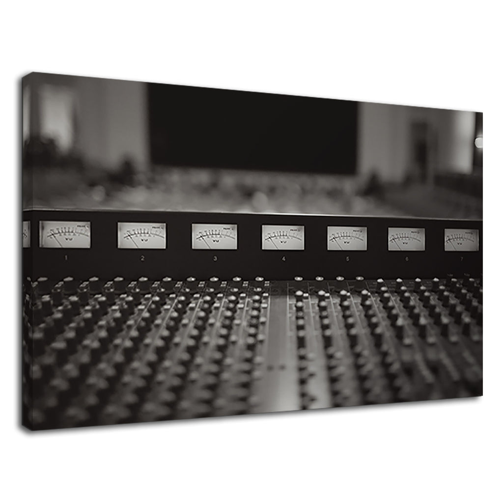 Studio Equaliser Black And White Music Studio Art