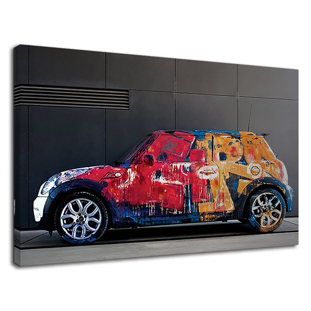A Car With Abstract Colour Paint For Living Room