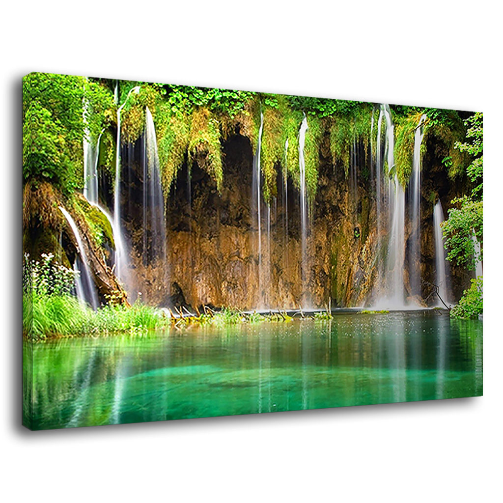 Green Tropical Waterfall For Drawing Room