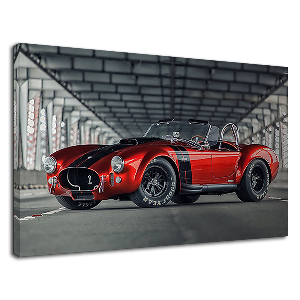 Shelby Cobra Red Classic Sports Muscle Car