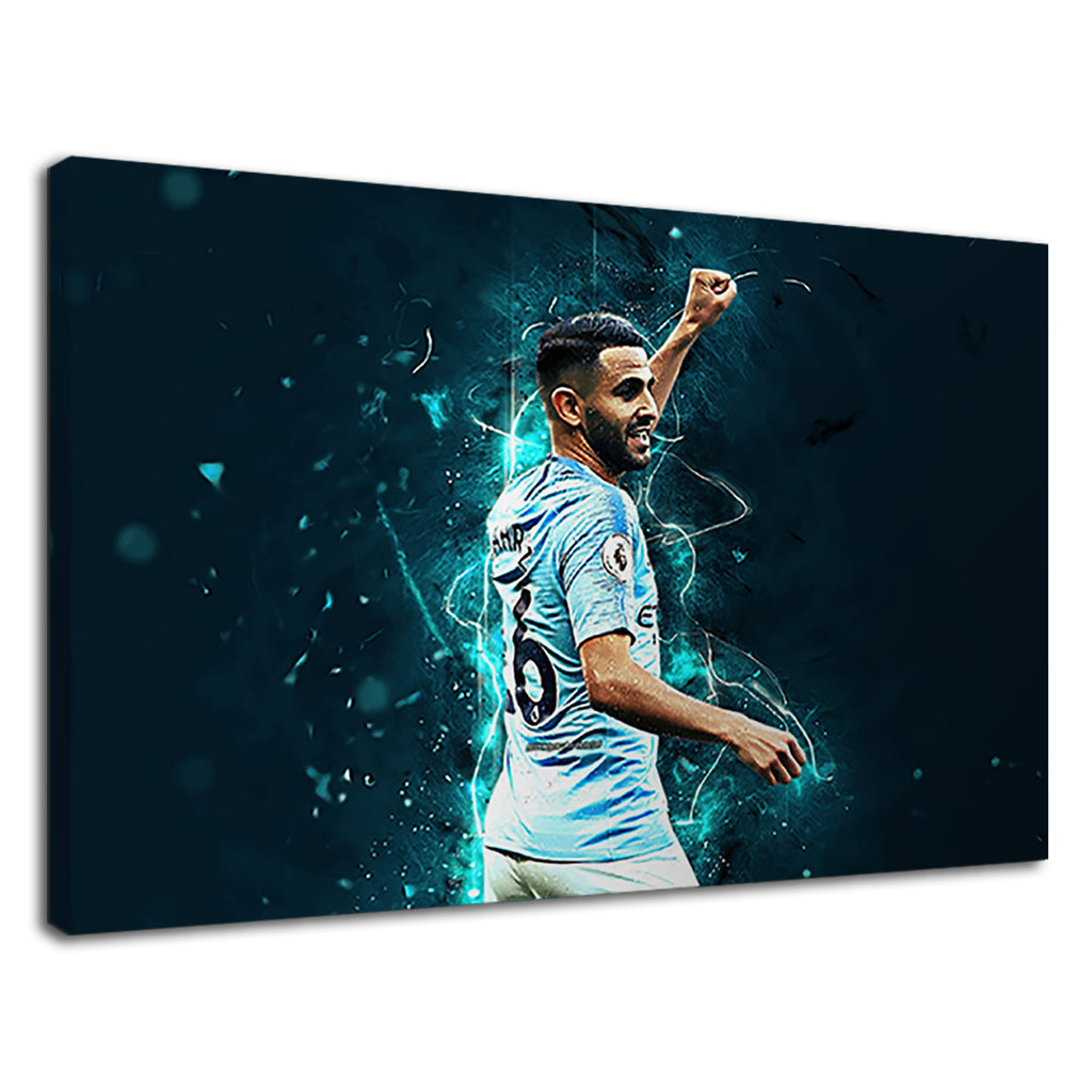 Riyad Mahrez Manchester City 26 Football Bky Blue