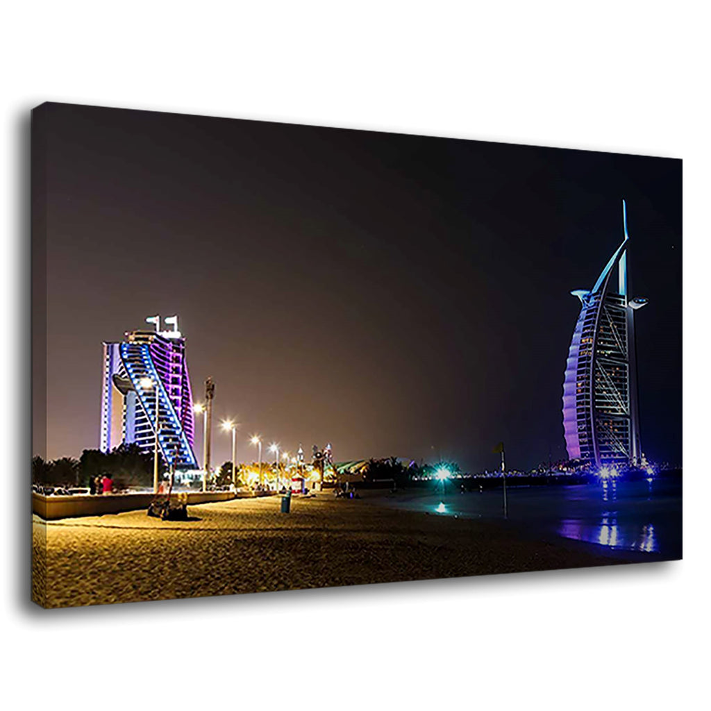 Burj Al Arab Jumeirah Beach Hotel Night Views