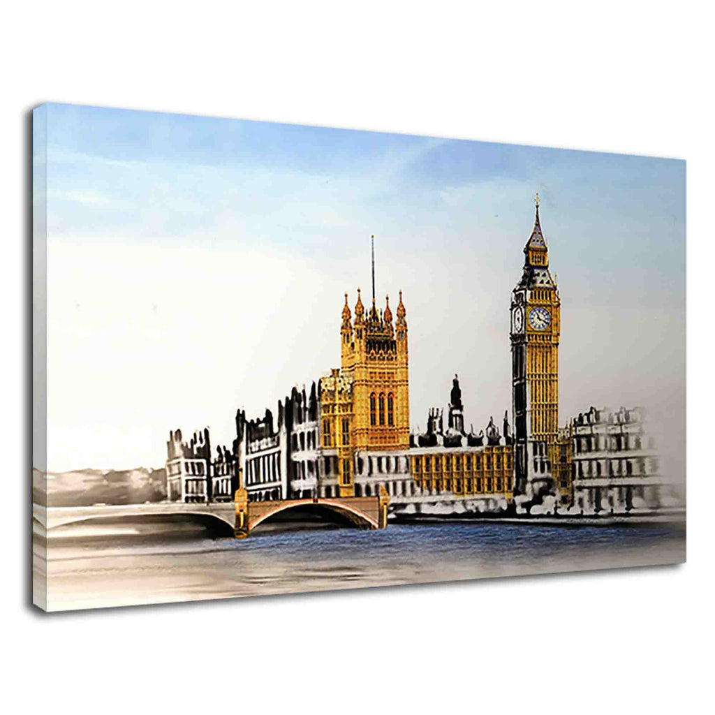 Amazing London city view digital watercolour art