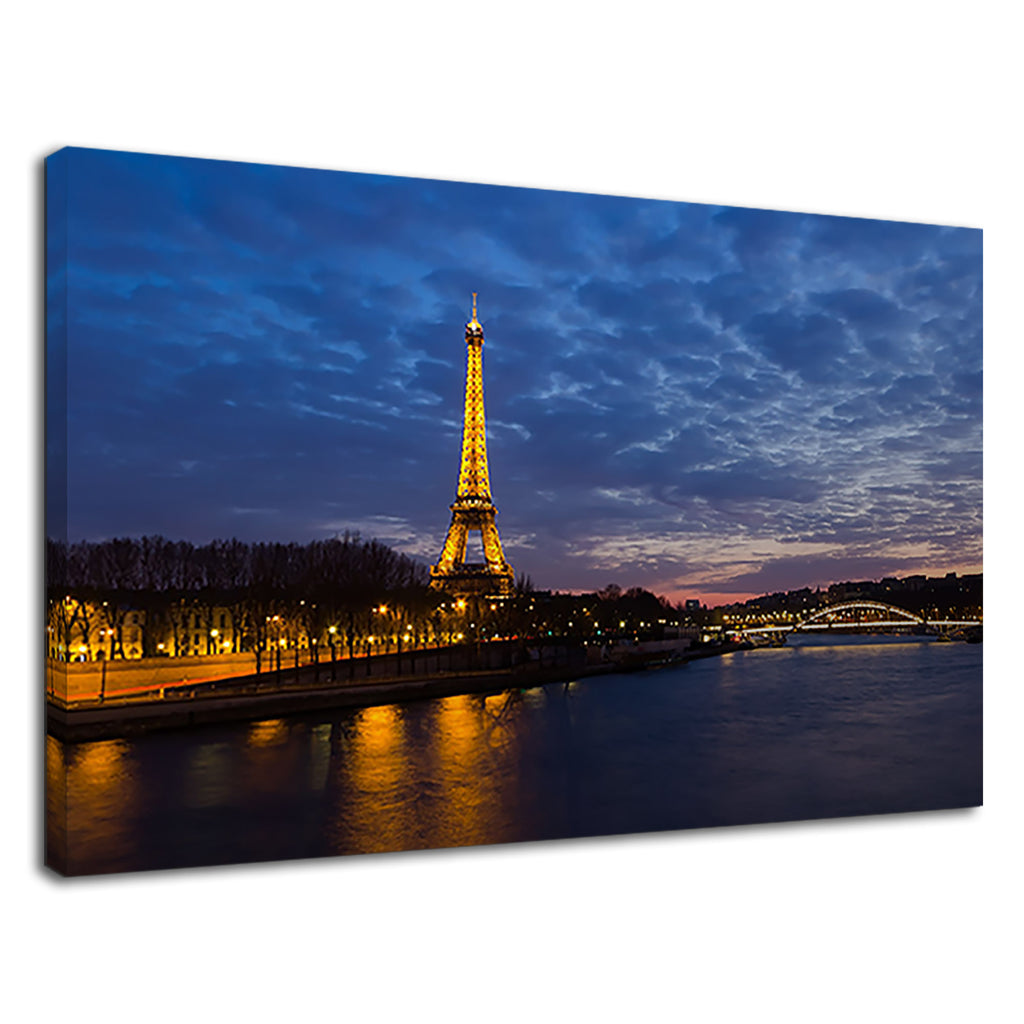 Paris Eiffel Tower Night Sunset City Sky Cityscape