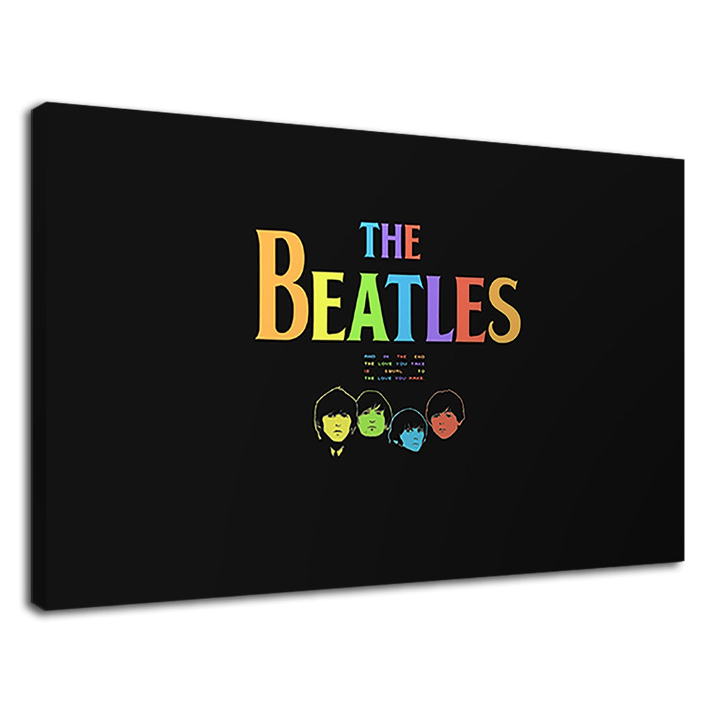 The Beatles Rainbow Logo Graphic Retro Pop Poster