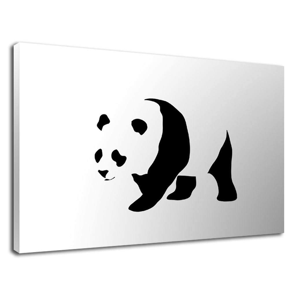 Minimalist Panda Wwf Mascot Black And White Animal
