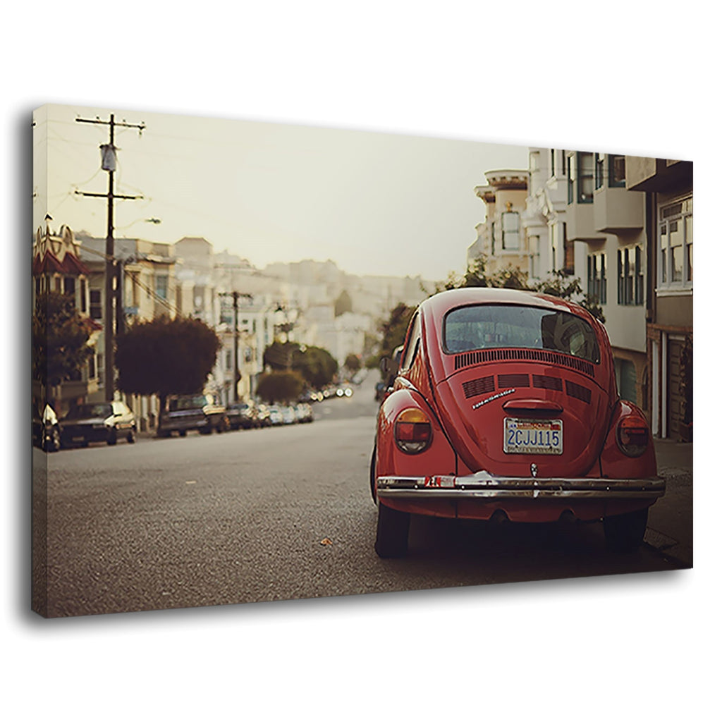 Hipster Hippie 6Os Retro Red Volkswagen Vw Beatle