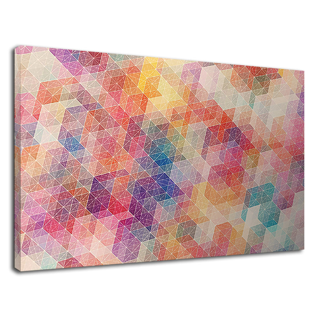 Colourful Abstract Geometric Triangles Modern