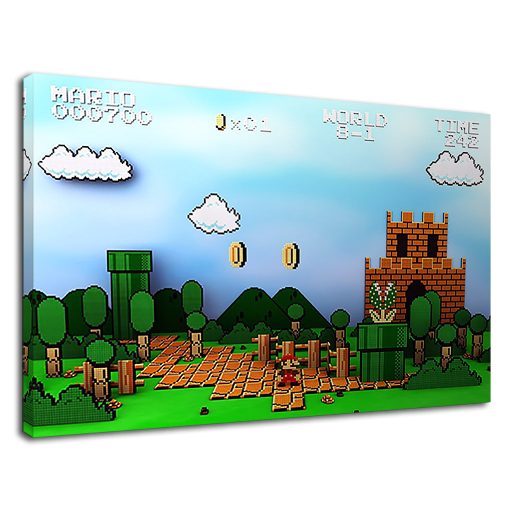 Super Mario Digital Artwork For Bathroom
