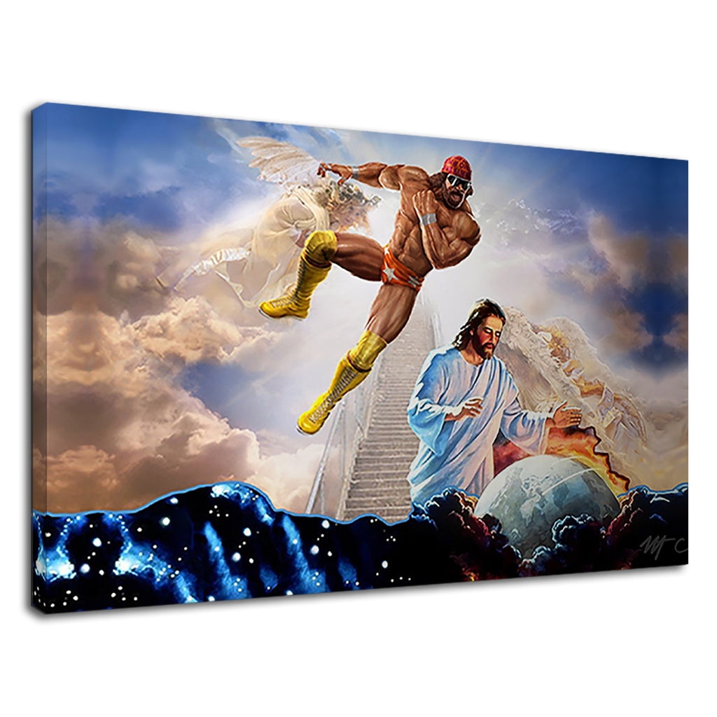 Macho Man Elbow Drop & Jesus Digital Artwork
