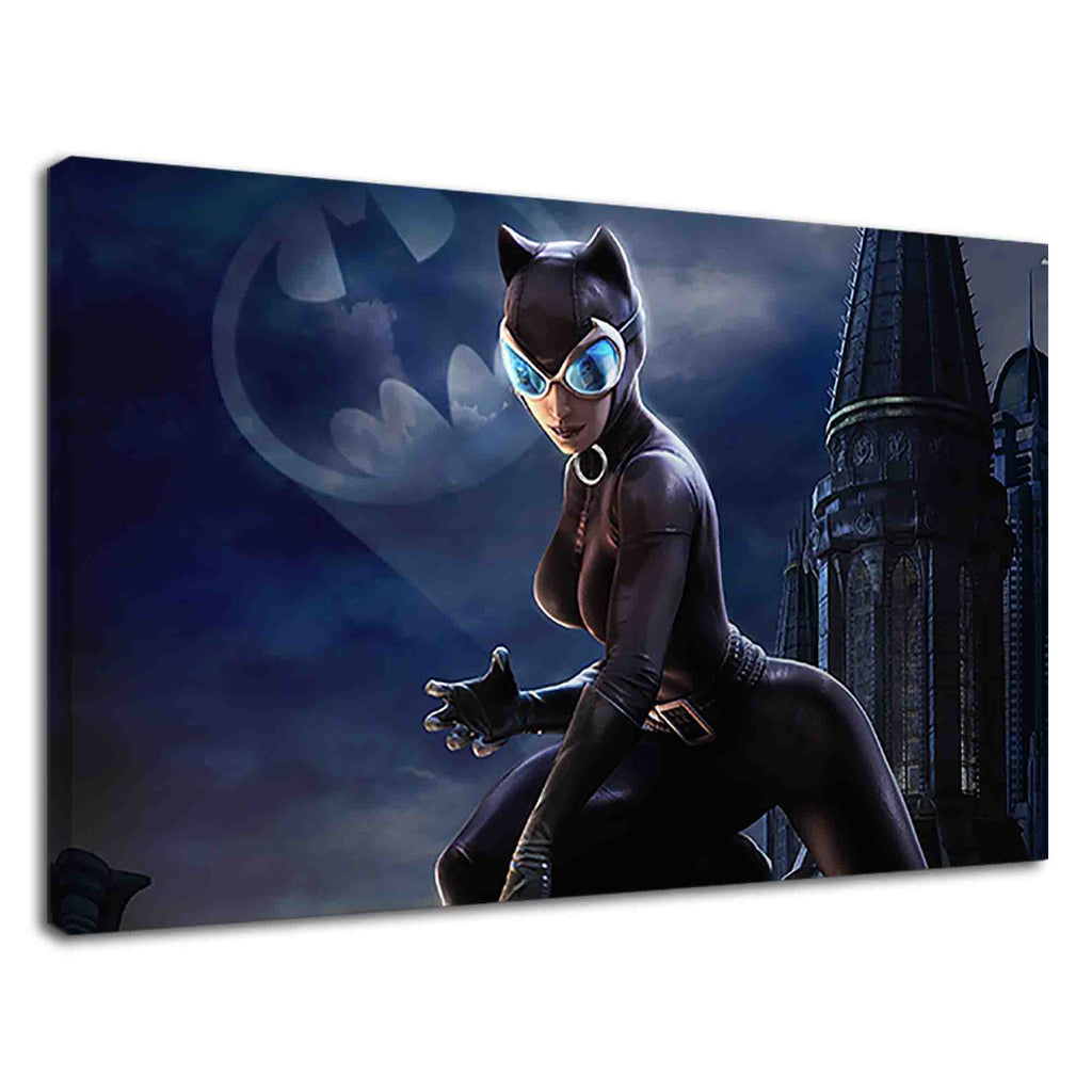 Catwoman DC universe fantasy art for girls bedroom