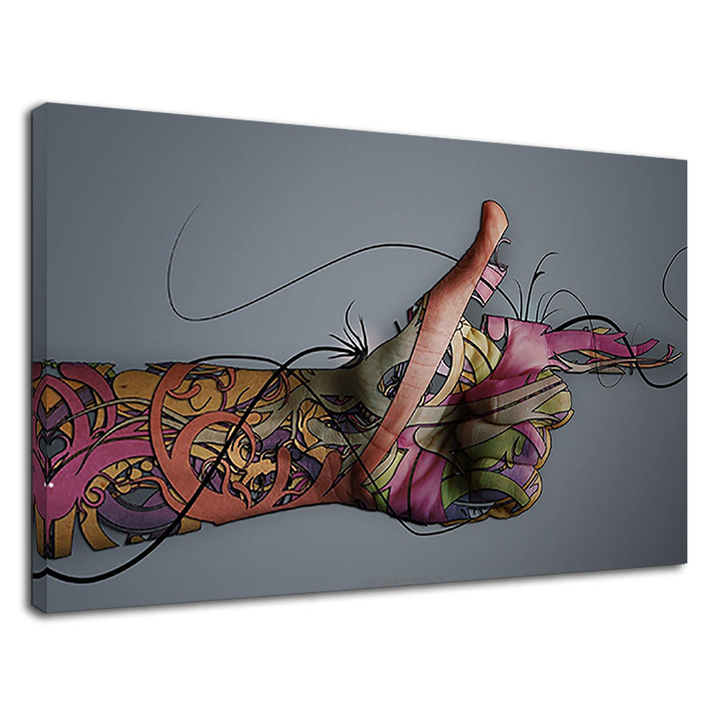 Ultra Artistic Abstract Tattoo Art Hand Anatomy