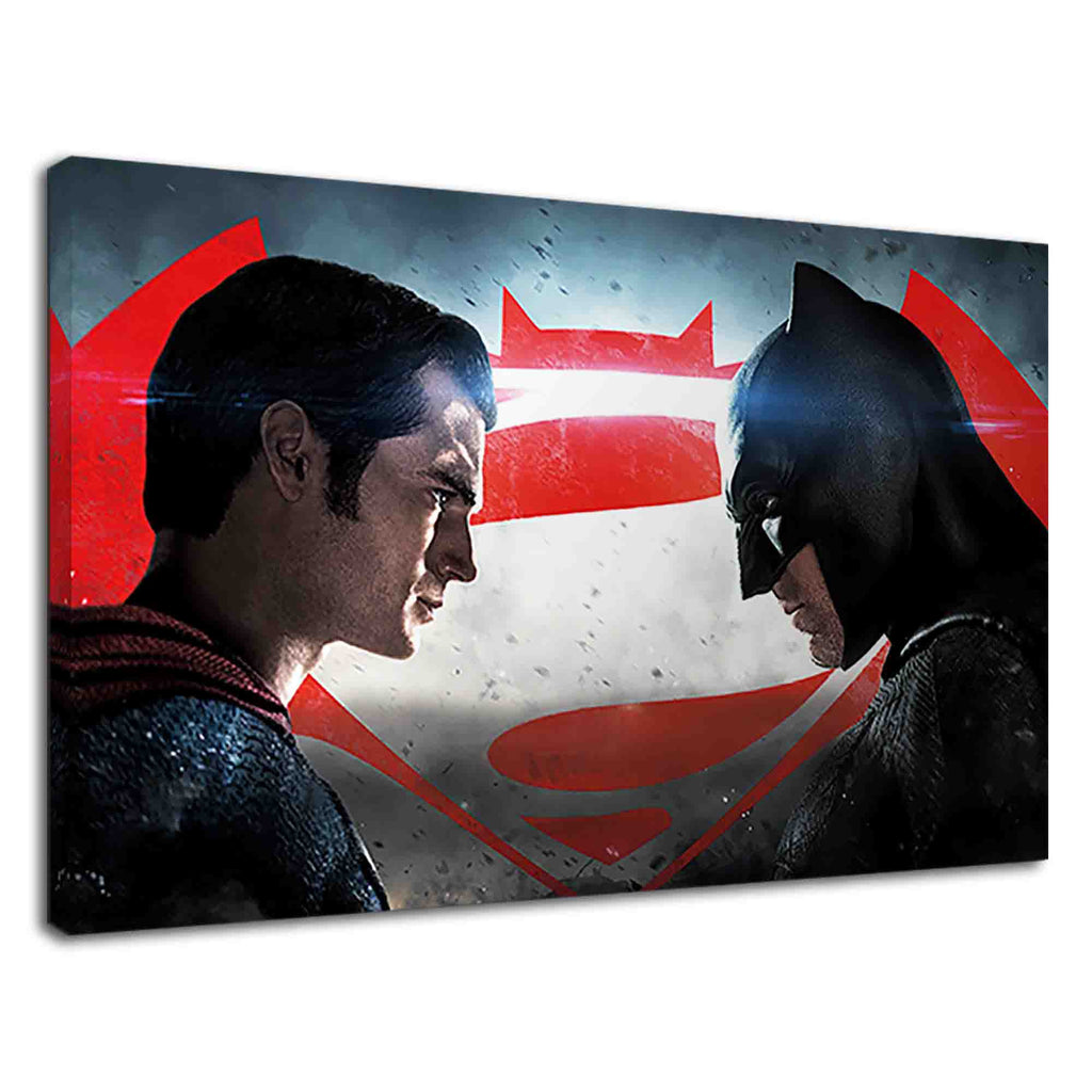 Superman & Batman face to face for kids bedroom
