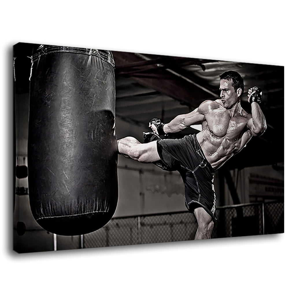 Mma Fighter Bag Kick Ring Octagon Fighting Boxing
