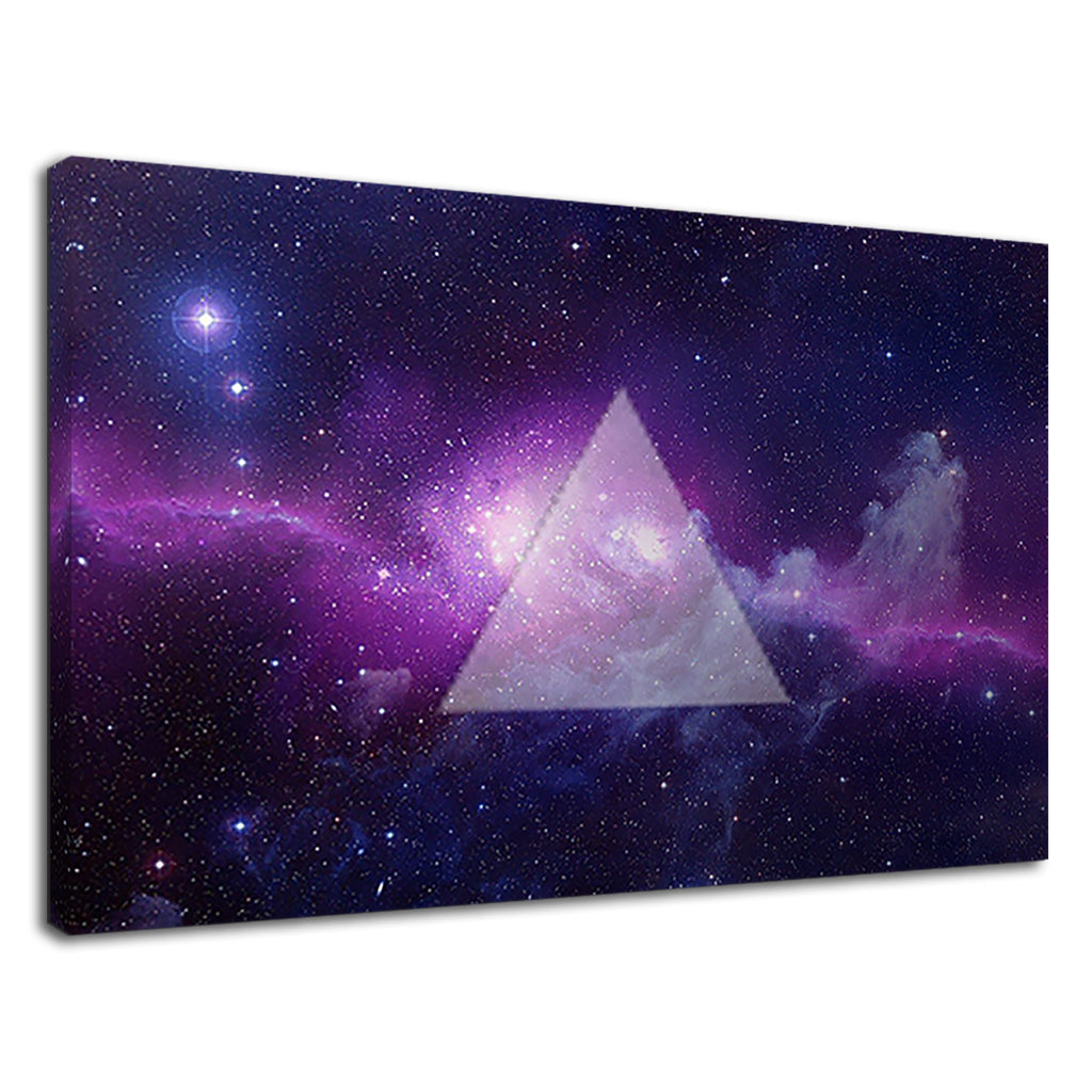 Hipster Hippie Purple Space Galaxy Triangle
