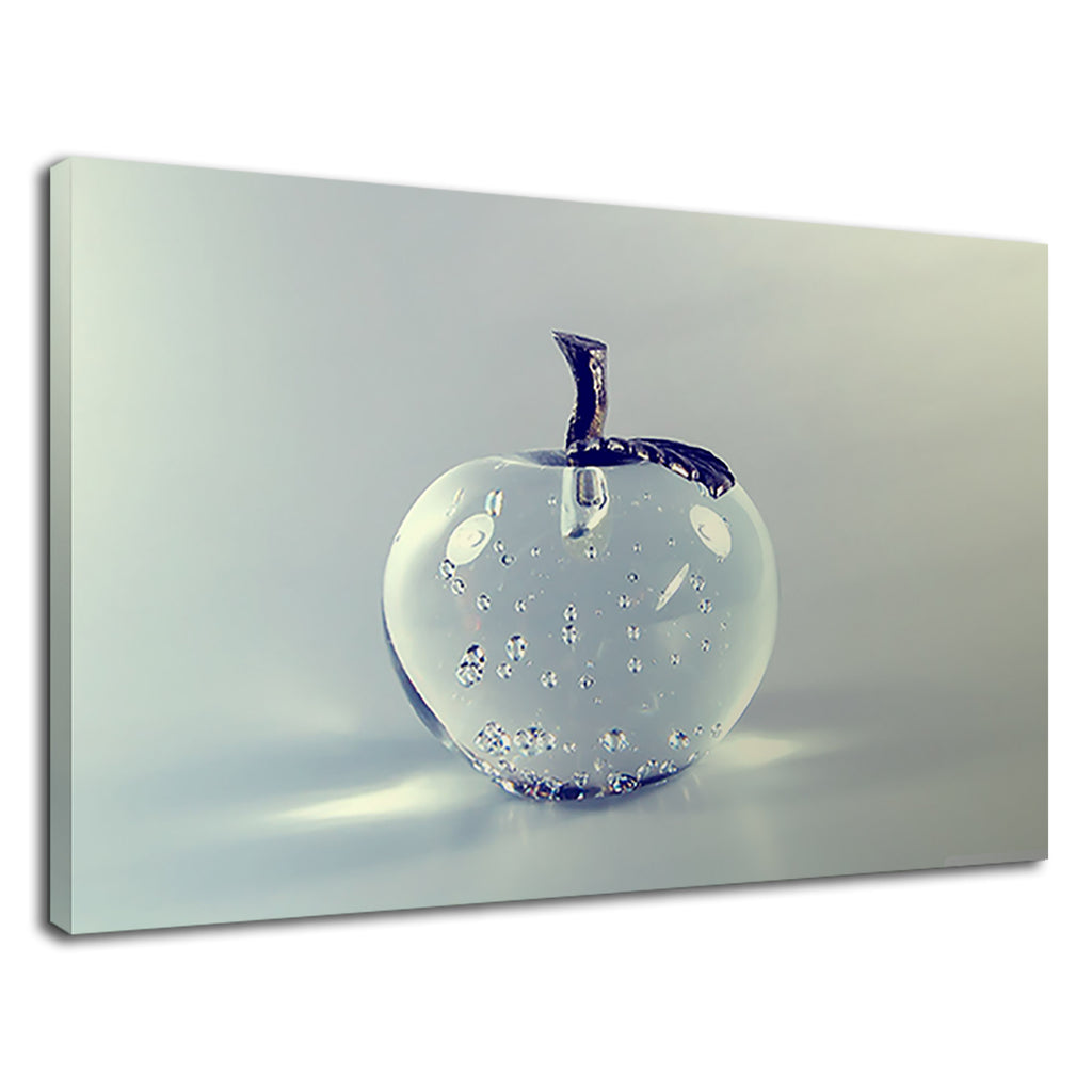Glass Crystal Clear Apple Fruit Kitchen Art Simple