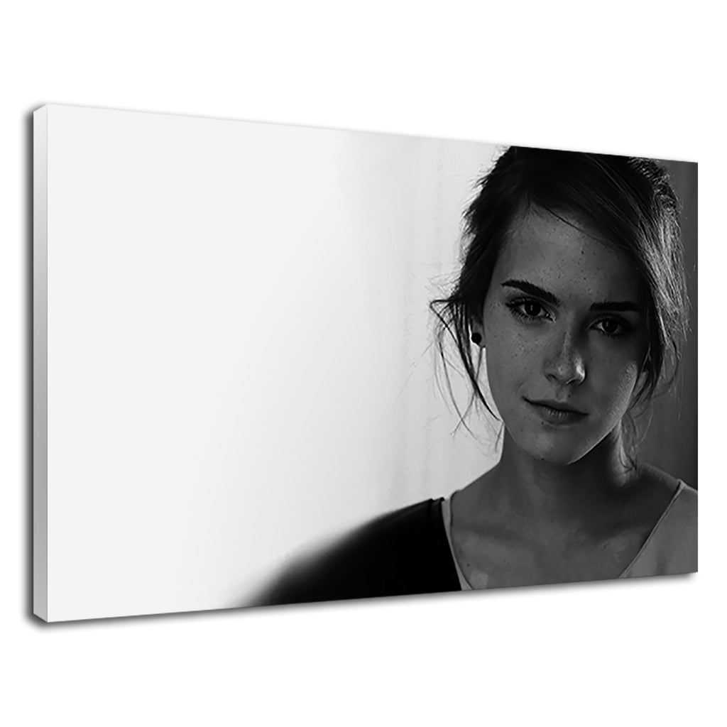 Actress Emma Watson Black & White Portrait