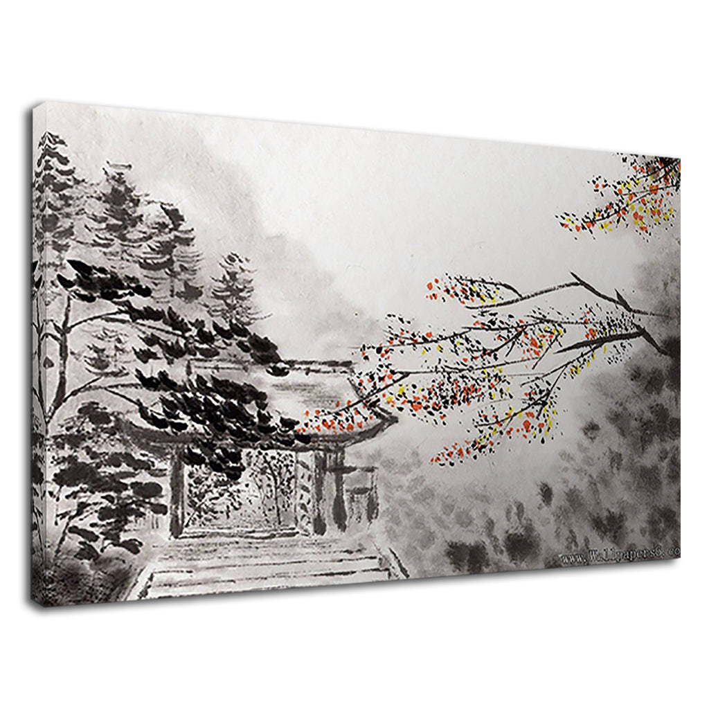 Ancient Chinese Style Painting Autumn Leaves