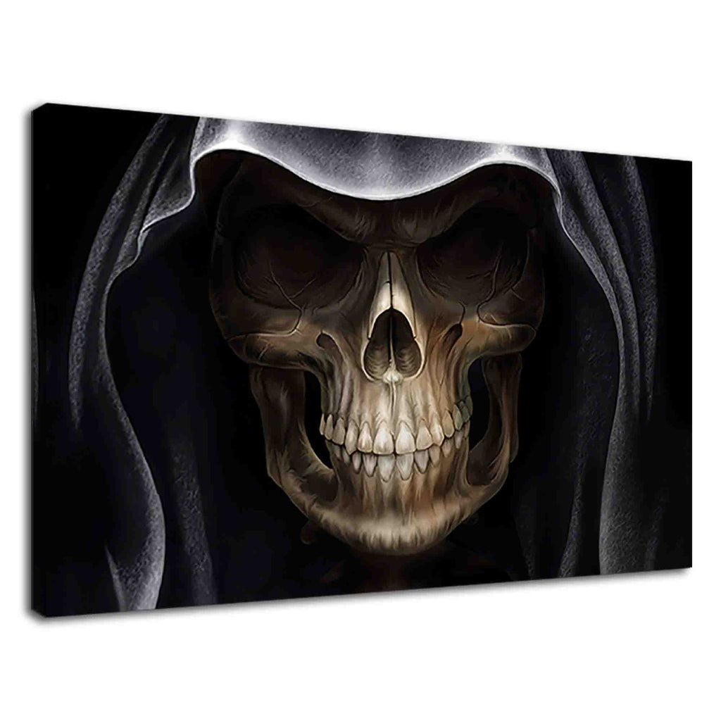 Creepy face of grim reaper digital illustration