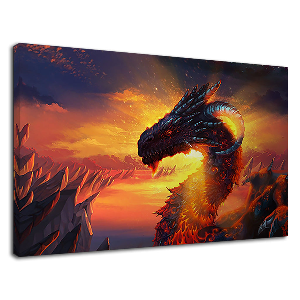 Epic Fantasy Dragon Fire Sunset Lotr Sauron