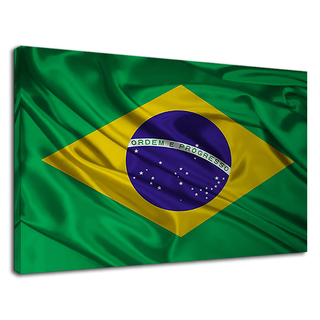 Brazilian Flag In The Wind Brazil Silk Scarf Rio