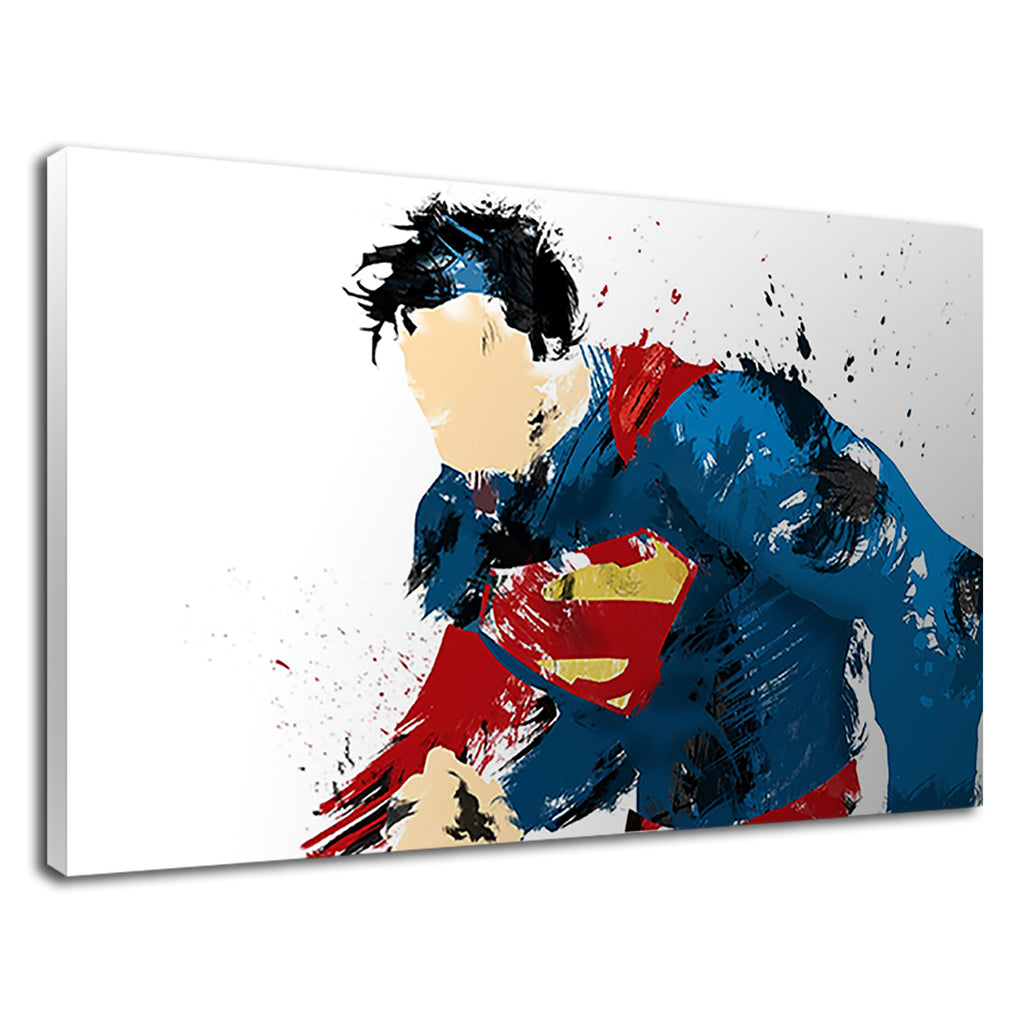 Faceless Superman Abstract Comic Hero Drawing
