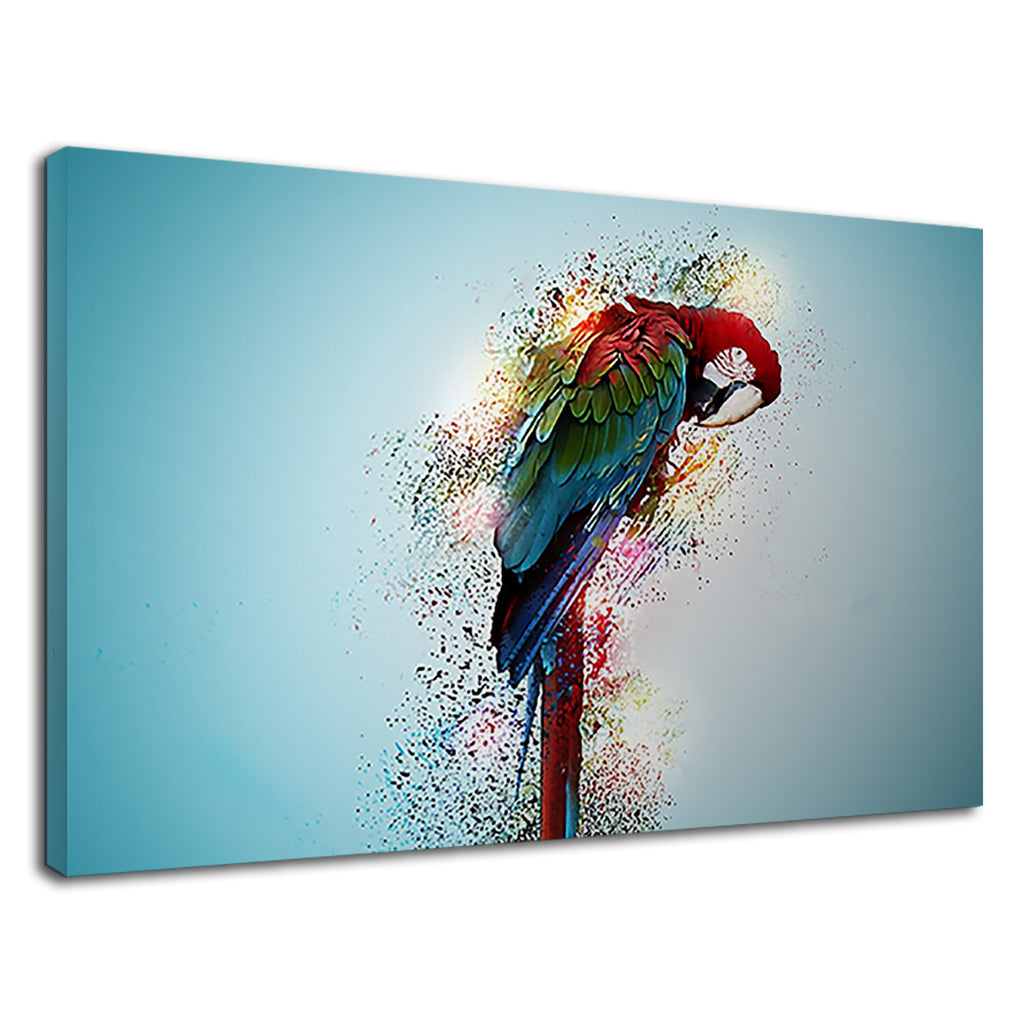 Macaw Parrot Bird Tropical Psychedelic Artwork