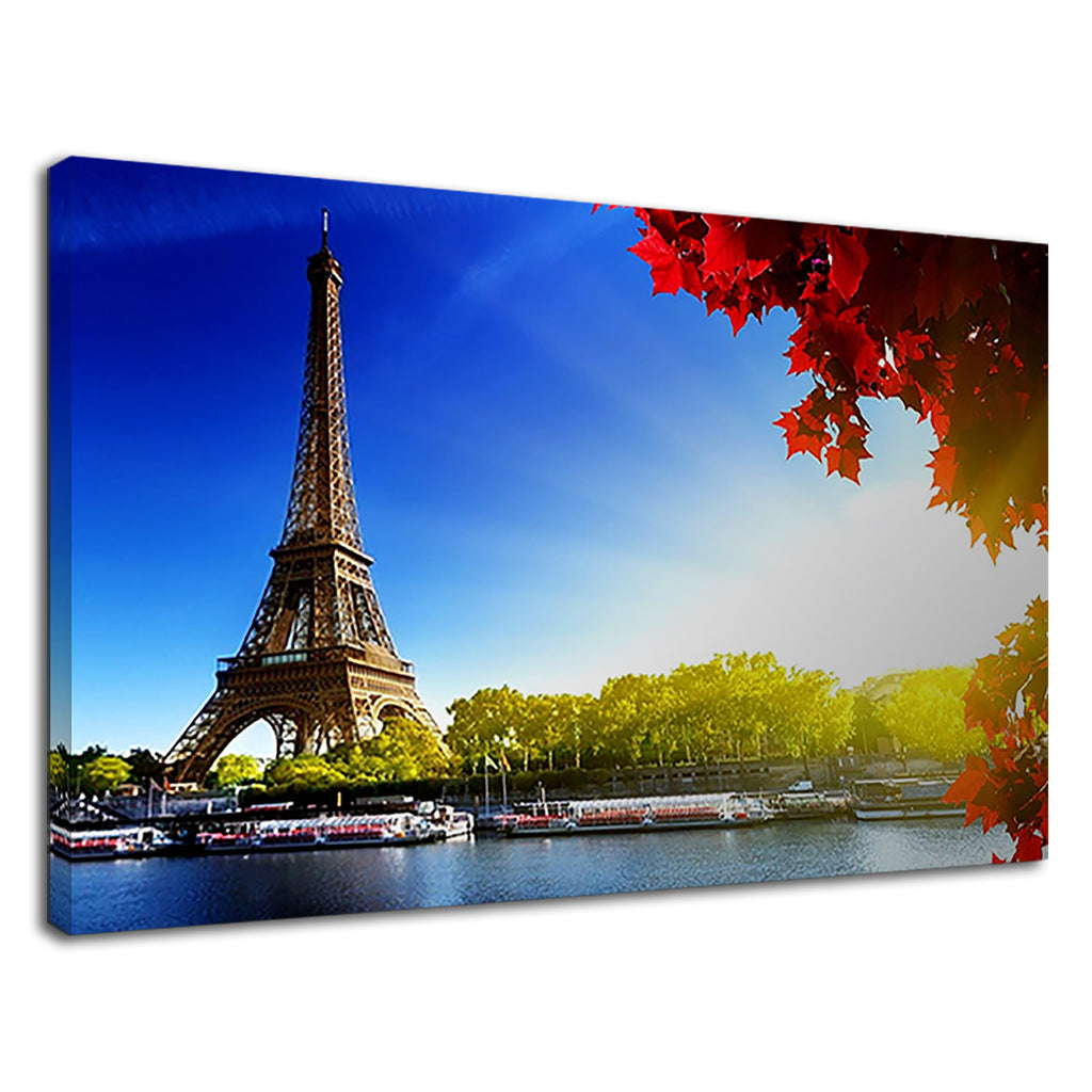 The Eiffle Tower Blue Lake For Living Room