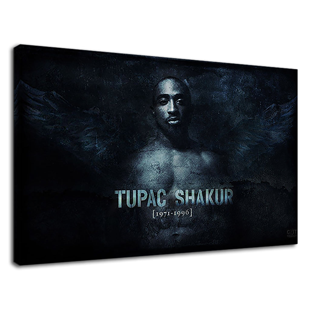 Tupak Shakur Tupac Tribute Hip Hop Legend Black