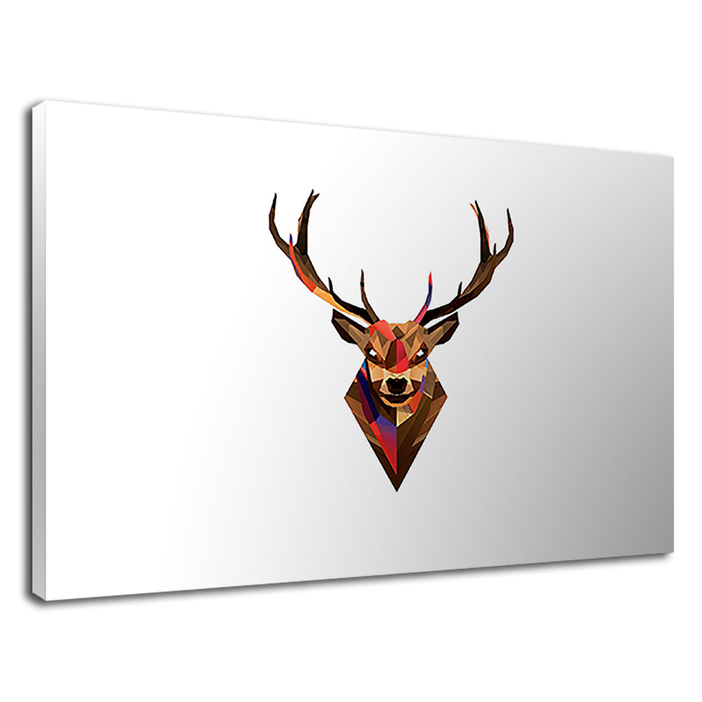 Geo Deer Stag Drawing Antler Geometric Wildlife