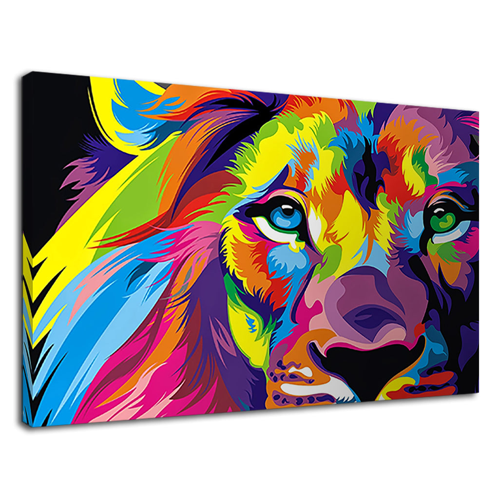 Abstract Colourful Rainbow Lion African Safari