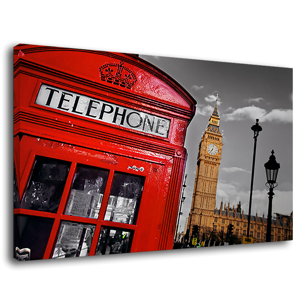 London City Red Heritage Telephone Booth Skyline