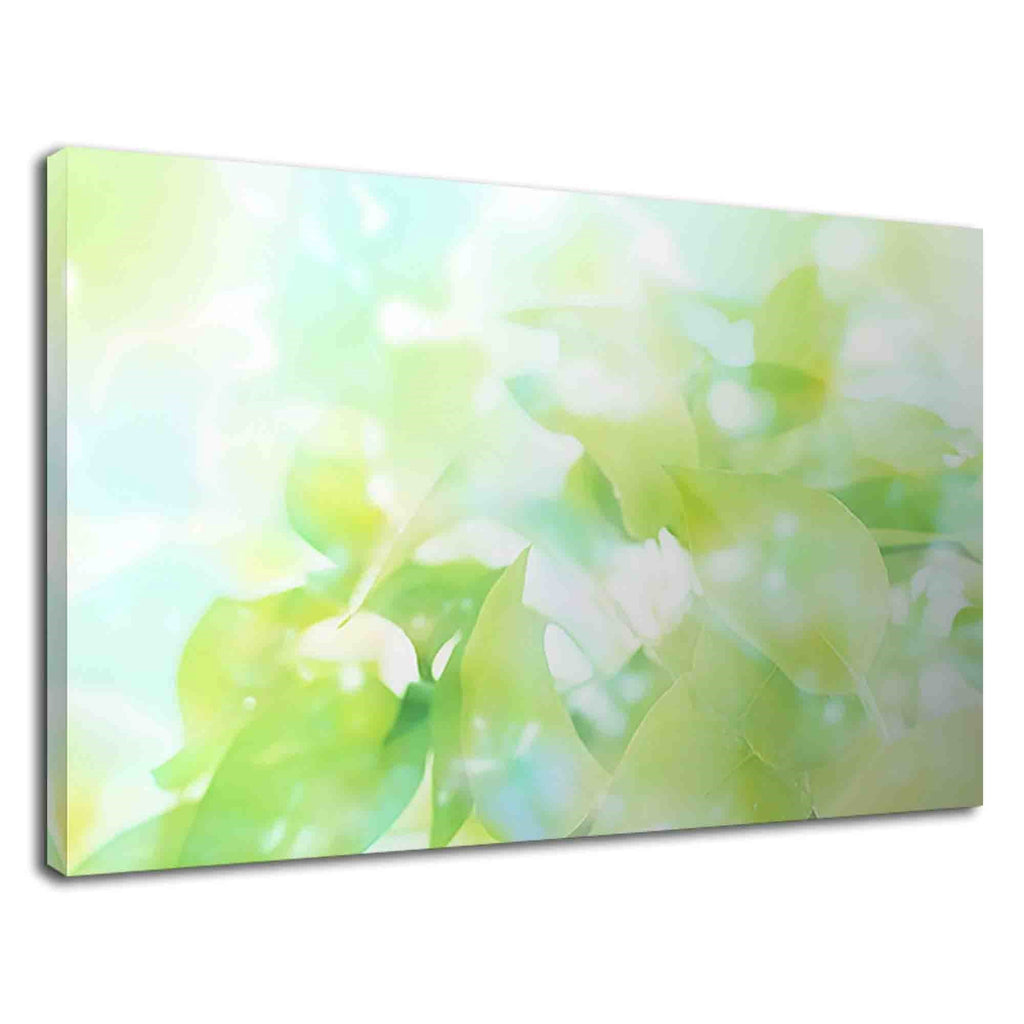 Watercolor Green Abstract Leaves For Bathroom