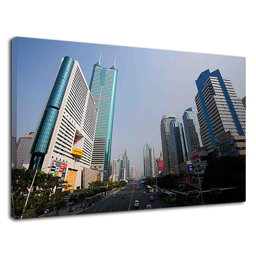 Tall Buildings Of Shenzhen Cityscape