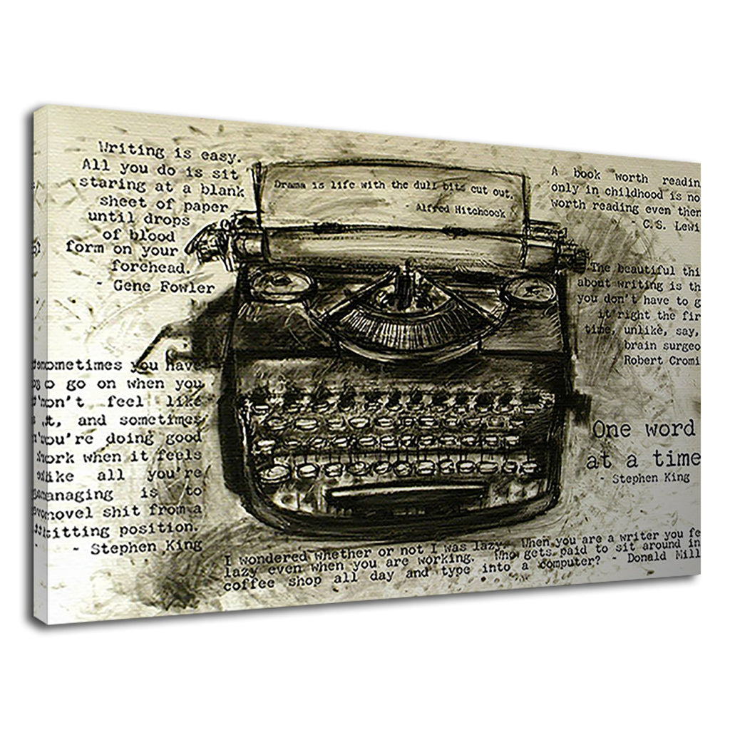 Typewriter Vintage Writer Inspiration Quote Office
