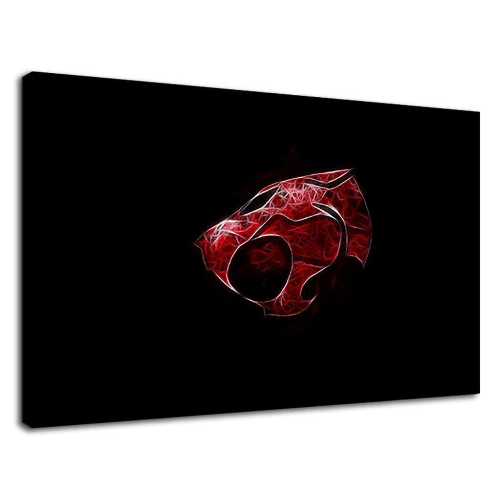 Black And Red Panther Thundercats Retro Logo