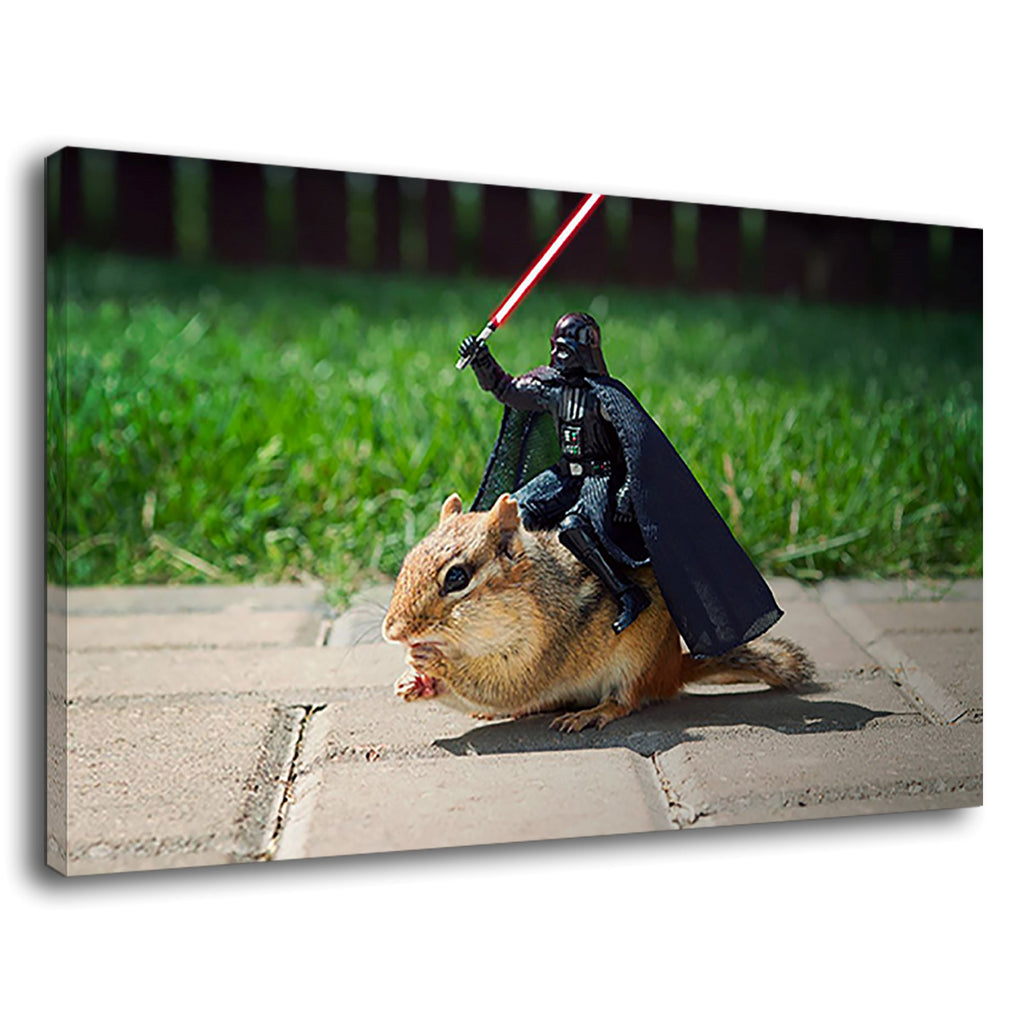 Epic Star Wars Warrior Riding On The Squirrel